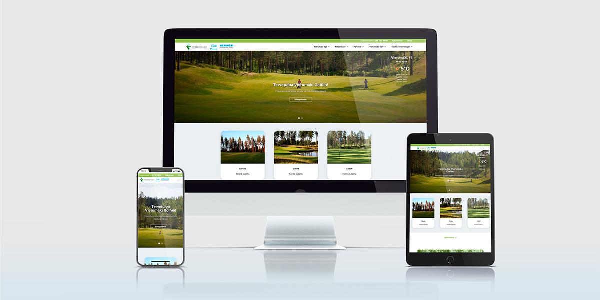 Tammi Digital toteutti Vierumäki Golfin uudet verkkosivut