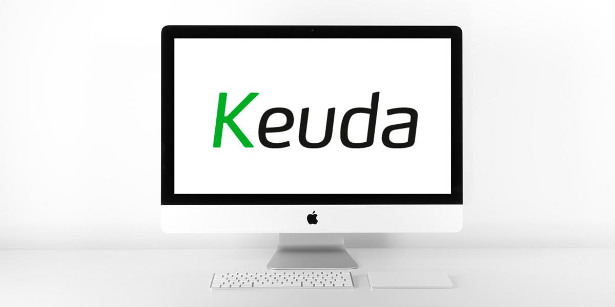 tietokoneen näyttö, jossa Keudan logo
